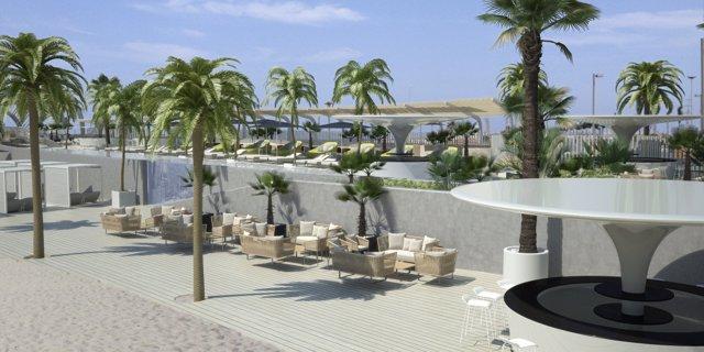 Vistas de la zona de playa