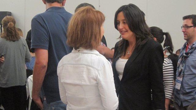 La candidata del PSC a las europeas Esther Niubó