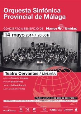 Cartel del concierto de la Orquesta Sinfónica Provincial a favor de Manos Unidas