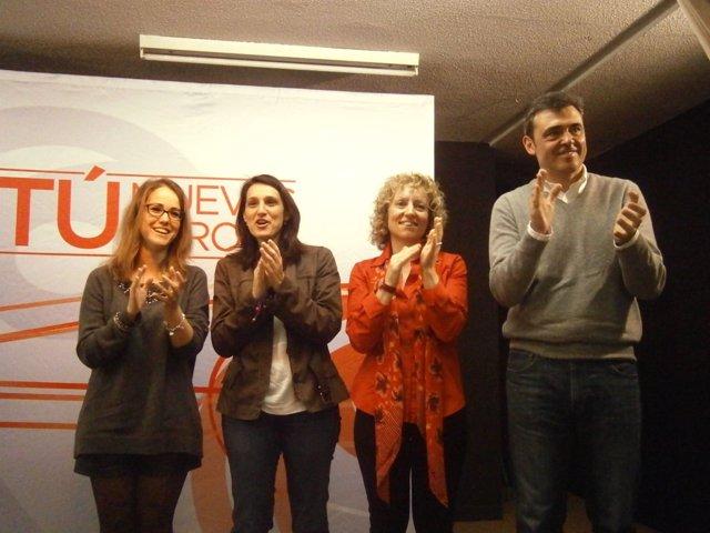 Acto de campaña del PSOE en Torrelavega