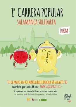 Cartel Anunciador de la I Carrera Popular Salamanca Solidaria