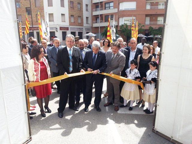 El conseller Germá Gordò inaugura la Fira de Tremp