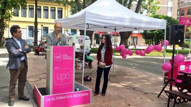 Solla, durante su intervención en La Felguera.