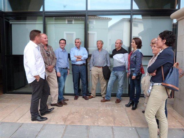 Reprsentantes del PP en la localidad turolense de Santa Eulalia.