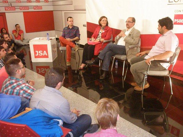 Acto central de Juventudes Socialistas de Aragón.