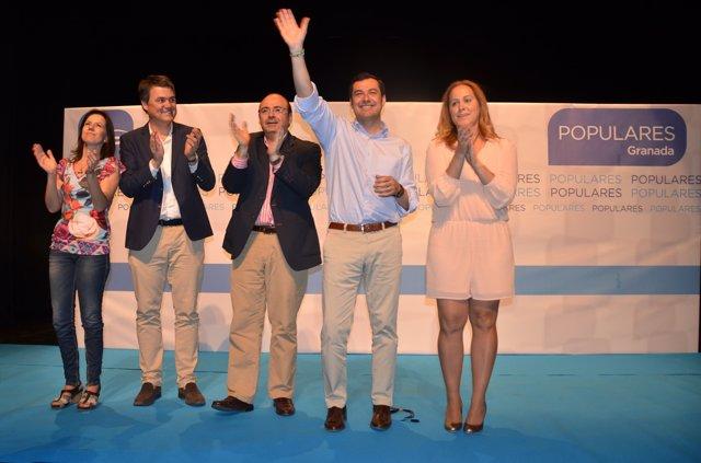 Mitin del presidente del PP andaluz, Juan Manuel Moreno