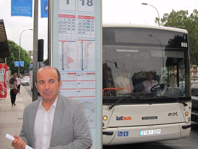 El portavoz del PSOE en el Ayuntamiento de Murcia, Pedro López