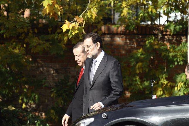 Mariano Rajoy con Erdogan