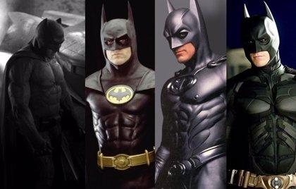 De Michael Keaton a Ben Affleck, la evolución del traje de 'Batman' en imágenes