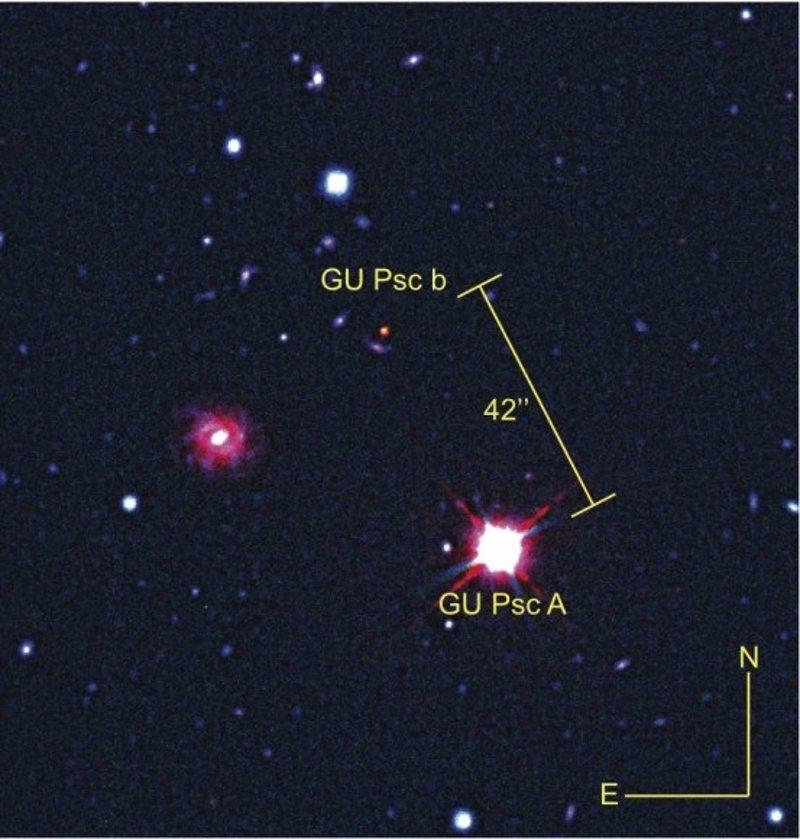 Primera imagen directa de un planeta extrasolar gigante