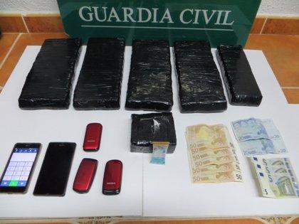Detenidos en San Rafael (Segovia) con seis kilos de coca
