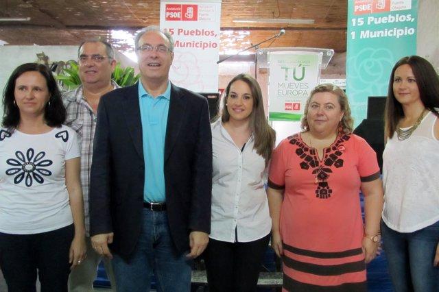 Acto de campaña del 25M del PSOE en Fuente Obejuna (Córdoba)