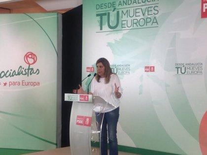 """Susana Díaz pide no dar """"un cheque en blanco"""" a Rajoy"""