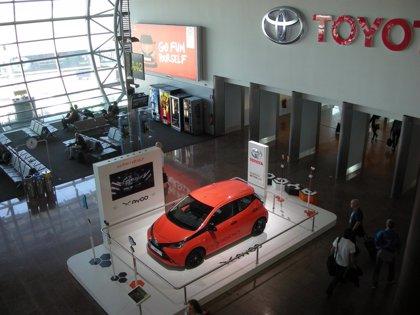 Toyota exhibe el nuevo Aygo en el aeropuerto de Bruselas