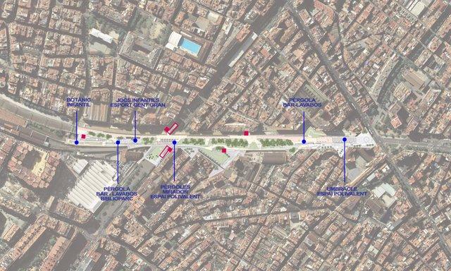 Proyecto de cubierta de las vías de Sants