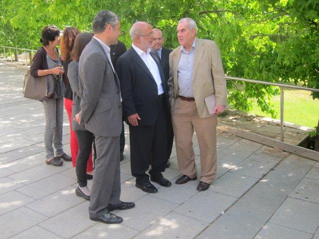 O.Amorós, J.M.Terricabras (ERC) y E.Maragall (NECat)