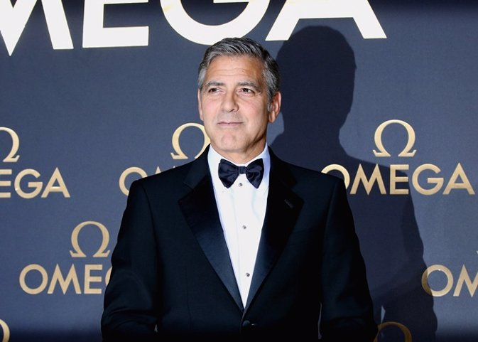Actor George Clooney arrives for the red carpet of Om