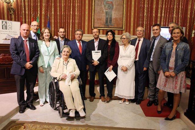 Zoido junto a los erconocidos con el Premio Andalucía de la Crítica