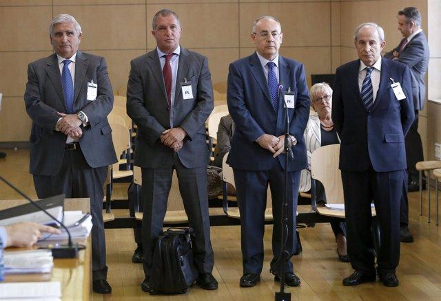 Ricardo Pages, Juan Caellas, Manuel Trouano y Santiago José Abella