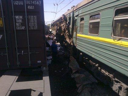 Seis muertos en la colisión de dos trenes cerca de Moscú