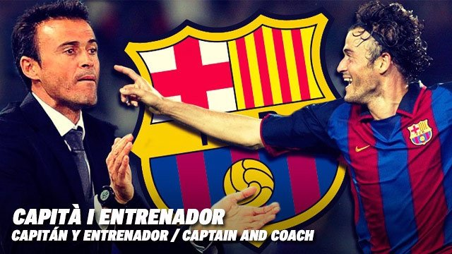Luis Enrique, capitán y entrenador del FC Barcelona