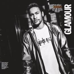 El jugador del FC Barcelona Neymar, portada de 'Glamour'