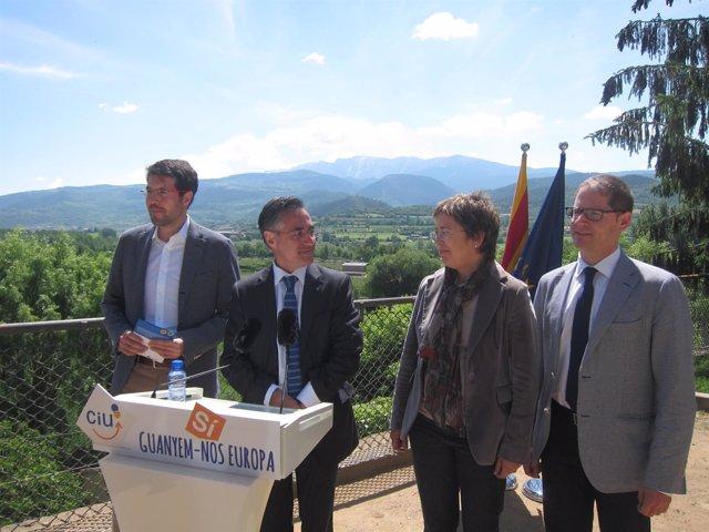 Albert Batalla, Ramon Tremosa, Mireia Canals, Pedro Morán (CiU)