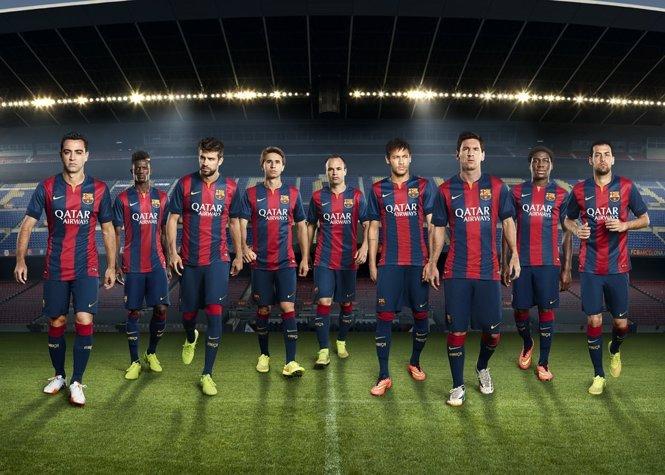Nueva equipación del FC Barcelona 2014-2015