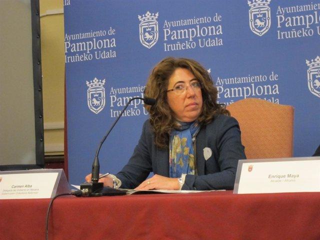 La delegada del Gobierno en Navarra, Carmen Alba.