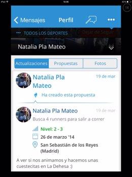 Aplicación de Decathlon Sport Meeting para iPhone