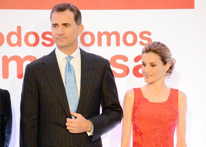 Los principes de asturias  muestran su apoyo a los empresarios