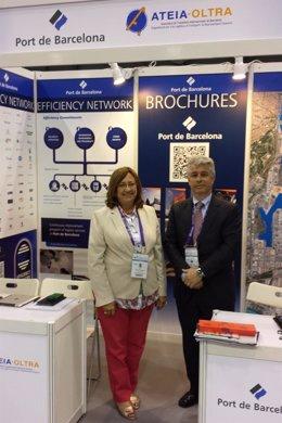 Rosa Puig y Manel Galán (Puerto de Barcelona) en la WCA Worldwide Conference