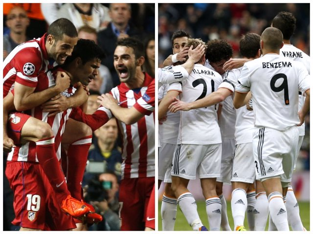 Atlético y Real Madrid disputarán la final de Champions