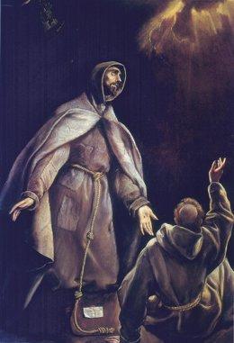 La visión de San Francisco, de El Greco