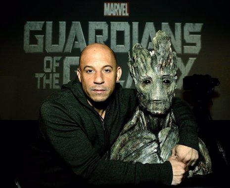 Vin Diesel en Guardianes de la Galaxia