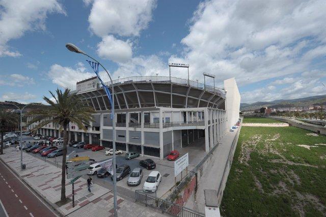 Estadio de La Rosaleda en Málaga