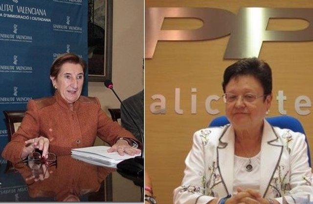 Gotzone Mora y Luisa pastor en diferentes imágenes de archivo