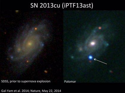 Astrónomos observan la muerte violenta de una estrella gigante