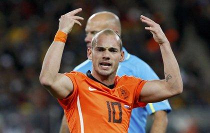 """Sneijder: """"No estaba preocupado por tener un sitio en la selección"""""""