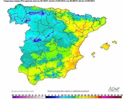 Se mantiene la Preemergencia por riesgo máximo de incendios forestales, en Valencia y norte de Alicante