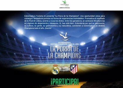Más de 3.000 personas han apostado en la porra de la Champions que sortea 90 estancias de hotel en Extremadura