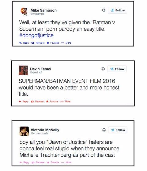 Reacciones título Batman v superman