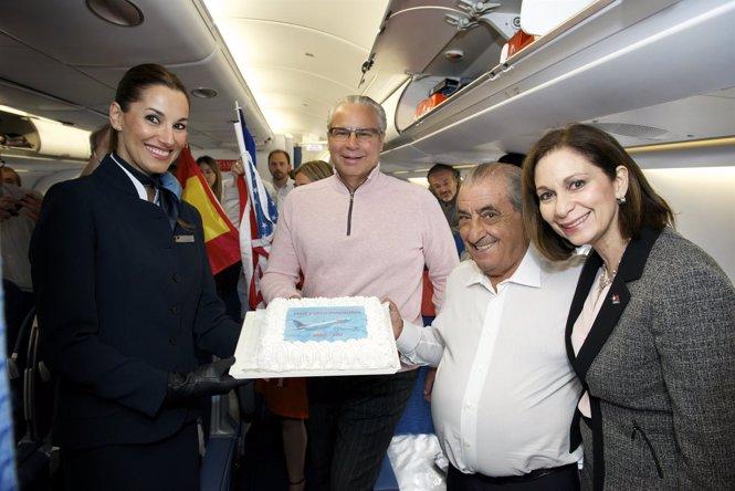 Vuelo inaugural de Air Europa Madrid-San Juan de Puerto Rico