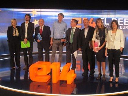 CiU y ERC evitan el 'cuerpo a cuerpo' en un debate televisivo sin alusiones al ataque a Montoro
