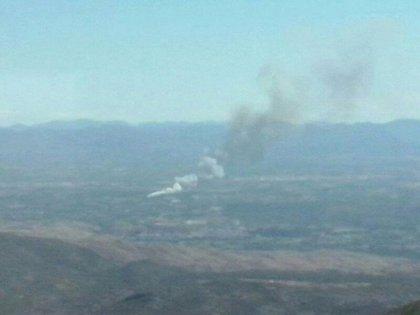 Controlado el incendio de Pedralba que obligó a desalojar viviendas de una urbanización