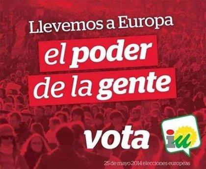 """IU llama a """"llenar las urnas del poder de la gente, y el Parlamento Europeo de gente normal"""""""