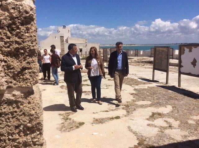 Visita de Serrano al Castillo de Sancti Petri