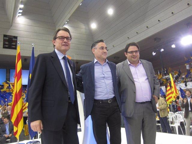 Artur Mas, Ramon Tremosa y Francesc Gambús