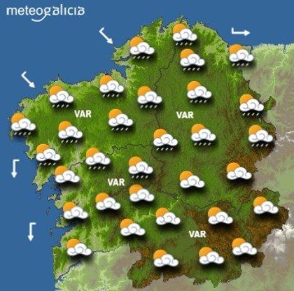 Los gallegos votarán bajo chubascos ocasionales y con temperaturas frías para la época