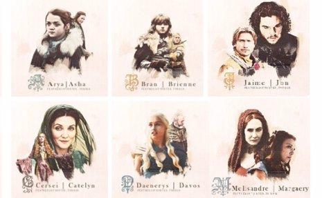 Juego de tronos: abecedario con los personajes
